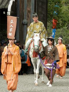 Jidai-Matsuri (Jidai-festival)in Kyoto Japan. Aduchi-Momoyama era costume. Tateri Munetsugu of the age of civil strife.