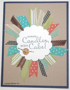 ribbon scraps card