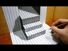 3D Trick Art on Line Paper Floating Pyramid - YouTube