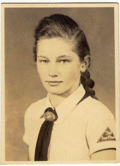 """A Bund Deutscher Mädel (BDM, or """"League of German Girls"""") member from South Bavaria, via Jedem das seine"""