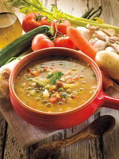 Sopa de verduras con frijoles - KENA.com