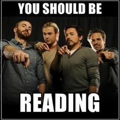 The Avengers say: You should be reading.