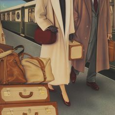 Ghurka II #art #art-work #artist #artwork #ghurka #leather #leather-luggage #luggage #luggage-ghurka #mary-beth-percival #monte-dolack #new-yor #new-yorker-magazine #orient-express #original-painting #painting #poster #style #train #travel #travel-poster #vintage