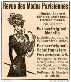 Original-Werbung/Inserat/ Anzeige 1899 - REVUE DES MODES PARISIENNE  - ca. 90 X 110 mm