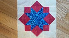 My 1st quilt block: Pat Sloan's BOM 2015 Vacation Time