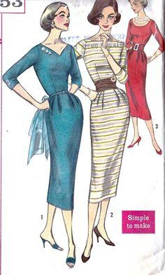 1957 women's dress pattern