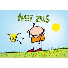 Postkaart: Hoi Zus