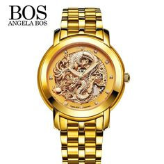 Gold Analog Watch for Men from AnAvLiNa 9c94250f35