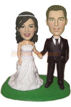 5ac22eaab51 Wedding Couple Hand in Hand Bobble head Doll