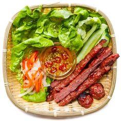 Vietnamese Grilled Pork Sausage (Nem Nuong) — Vietnamese Home Cooking Recipes Vietnamese Grilled Pork, Vietnamese Sausage, Vietnamese Cuisine, Vietnamese Recipes, Steamed Pork Buns, Fried Pork, Pork Patties Recipe, Nem Nuong, Thit Nuong Recipe