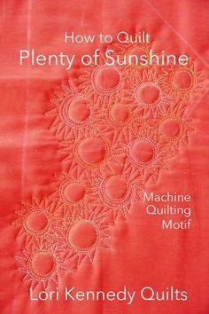 Fantasy Flower Motif-A Machine Quilting Tutorial - Lori Kennedy Quilts