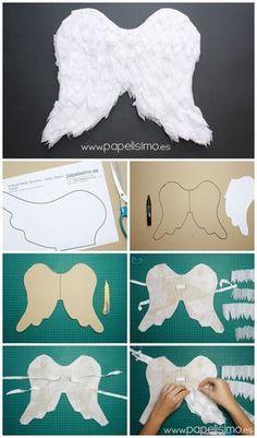 Alas de ángel de papel para niño | Aprender manualidades es facilisimo.com
