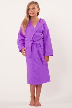 ecc0b3c8b7 100% Turkish Cotton Kids Hooded Waffle Diamond Robe - Lavender - Kids (Age  3-6) - Small Medium  Kids Hooded Waffle Diamond Robe - Lavender - Small  Medium