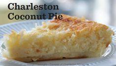 Charleston SC Coconut Pie