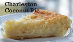 Charleston SC Coconut Pie