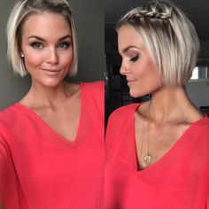 who is krissa fowles Braids For Short Hair, Short Hair Cuts, Short Blonde, Blonde Hair, Medium Hair Styles, Curly Hair Styles, Short Hair Trends, Short Bob Hairstyles, Short Bob Updo