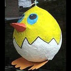 Easter crafts - make your own Easter pinata    http://www.mervEdinger.com