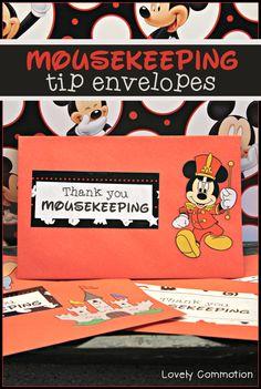 disney tip envelopes