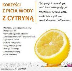 Korzyści z picia wody z cytryną!