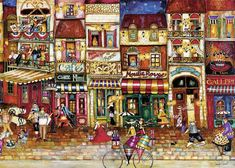 Ravensburger Streets of France 1000 Piece Jigsaw Puzzle for Adults – Every piece is unique, Softclick technology Means Pieces Fit Together Perfectly Tile Murals, Tile Art, Rouge Paris, Decoupage, Mosaic Crosses, Challenging Puzzles, Ravensburger Puzzle, Paris Art, Papa Noel