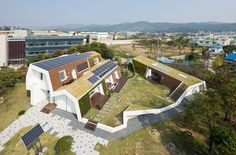 unsangdong architects: sustainable E+ green home - designboom | architecture & design magazine