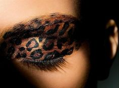 Animal print eye makeup