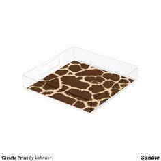Giraffe Print Acryli