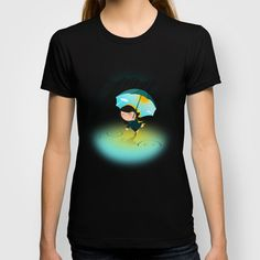 Happy umbrella T-shirt by Pesto design - $18.00