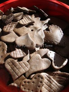 Cinnamon Salt Dough Hearts~