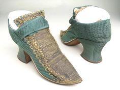 Зеленый шелк,металлическое кружево 1710-20 г
