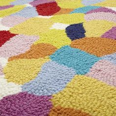 Kids Rugs: Colorful Pebble Pattern Woven Rug in All Rugs