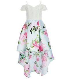 c9a108866c6 Rare Editions Big Girls 7-16 Satin Twill High-Low Hem Dress