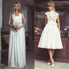 Ein kurzes oder langes Brautdirndl - was wäre dein Favorit für deine Hochzeit? Zum Glück brauchst du dich bei www.tianvantastique.com gar… Drindl Dress, Bridesmaid Dresses, Wedding Dresses, Monat, Clothes, Weddings, Instagram, Fashion, Woman