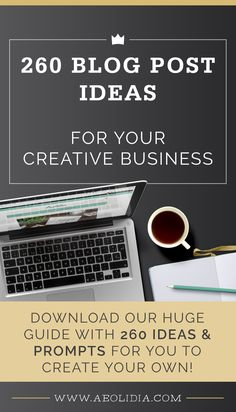 Kickstarting your blogging plans with 260 blog post ideas, 7 example ecommerce blogs that are killing it, and 4 steps to see your own success.