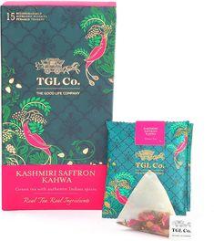 TGL Kashmiri Kahwa Tea, Green Tea, 16 Tea Bags (15 Tea Bags + 1 Free Exotic Sample) - Classi Blogger