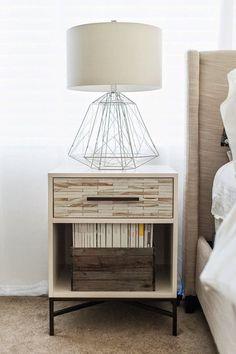 Diamond table lamp industrial metal minimal table by LightCookie