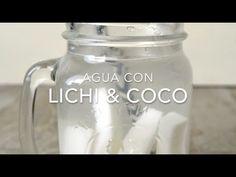 Agua con lichi y coco (agua infusionada)