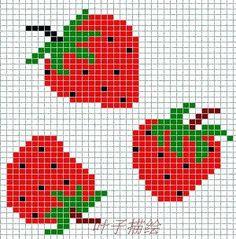 fraises, point de croix