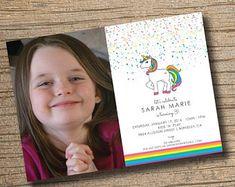 PRINTABLE Unicorn Party Invitation, Unicorn Birthday Invitations, Unicorn Party, Rainbow Unicorn Invitation (Printable)
