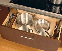 Urban Loft - Storage Solutions - Contemporary - Kitchen - Minneapolis - by Dura Supreme Cabinetry Pan Storage, Loft Storage, Storage Spaces, Kitchen Organisation, Kitchen Storage, Kitchen Cabinet Accessories, Kitchen Cabinets, Kitchen Appliances, Kitchens