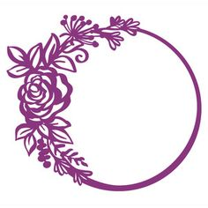Welcome to the Silhouette Design Store, your source for craft machine cut files, fonts, SVGs, and other digital content for use with the Silhouette CAMEO® and other electronic cutting machines. Painting Templates, Stencil Painting, Silhouette Frames, Silhouette Design, Flower Circle, Flower Frame, Doodle Frames, 3d Quilling, Paper Lace