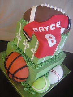 Football & Sports Cake ideas for Jackson's cake.