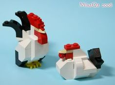 yea boy...lego chickens roosters!