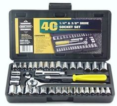 New Great Neck PSO40 40 Piece 1/4-Inch and 3/8-Inch Drive Socket Set #PSO