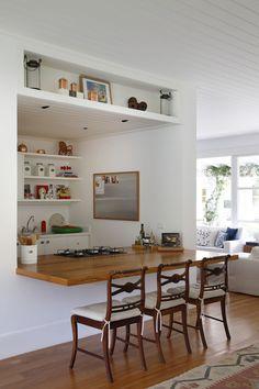 blog Achados de Decoração: uma mesa de jantar surge da parede
