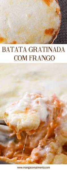 Batata Gratinada recheada com Frango
