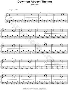 """""""Downton Abbey Theme"""" from 'Downton Abbey' Sheet Music (Easy Piano) (Piano Solo) - Download & Print"""