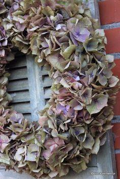 Made by Blomkje en Wenje: hydrangea wreath