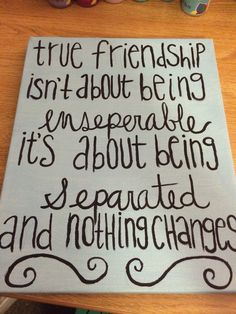 DIY canvas! Best friend gift Diy Friendship Gifts, Friendship Canvas, Friendship Paintings, Quote Friendship, Happy Friendship, Presents For Friends, Diy Christmas Gifts, Best Friend Christmas Gifts, Best Friend Birthday Gifts