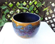 Your place to buy and sell all things handmade Green Plants, Potted Plants, Ceramic Pottery, Pottery Art, Vintage Ceramic, Lava, Flower Pots, Vintage Items, Planter Pots